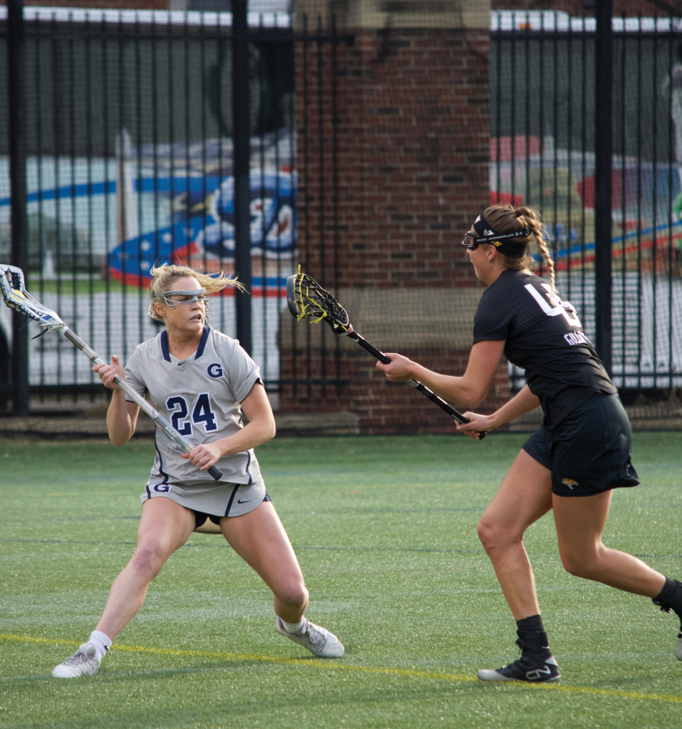 Junior midfielder Georgia Tunney notched two goals in Saturday's win against Butler. (FILE PHOTO: STEPHEN COOK/THE HOYA)