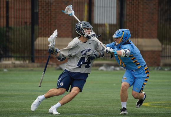 Sophomore attack Daniel Bucaro tallied two goals in Saturday's loss to Marquette. Bucaro leads the team with 26 goals and 34 points this season. (COURTESY GUHOYAS)