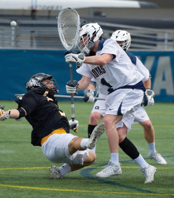 Junior goalie Nick Marrocco has started in all six of Georgetown's games this season, boasting a .532 save percentage. (COURTESY GUHOYAS)
