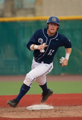 Junior catcher Richie O'Reilly sports a .315 on-base percentage on eight hits this season. O'Reilly has started 14 of Georgetown's 17 games this season. (COURTESY GUHOYAS)
