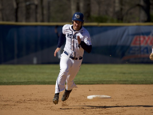Senior infielder Jake Kuzbel recorded two hits and two RBI's in Wednesday's game against Coppin State. He has a batting average of .385 and is second on the team with 23 RBIs so far this season. (COURTESY GUHOYAS)