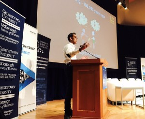 COURTESY CHAMBER OF DIGITAL COMMERCE Co-founder and president of Unocoin, Sunny Ray said blockchain technologies such as the cryptocurrency bitcoin have the potential to revolutionize how business transactions are conducted.