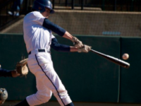 Junior outfielder Michael DeRenzi ranks first on the team with a .398 batting average while hitting a team-high three home runs and driving in 28 runs. (COURTESY GUHOYAS)