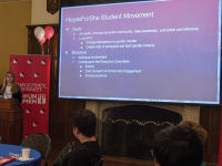 ELLa wan for The hoya                      Students and administrators launched the HoyasForShe initiative, part of the university's HeForShe requirements, in an effort to raise awareness for gender equity.