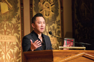 SPENCER COOK FOR THE HOYA Pulitzer Prize-winning author Viet Thanh Nguyen defended immigration as a part of a cosmopolitan view of world affairs in an event co-sponsored by The Hoya.