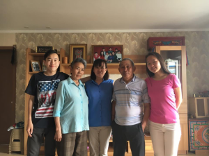 Three generations of the author's host family | COURTESY STELLA CAI
