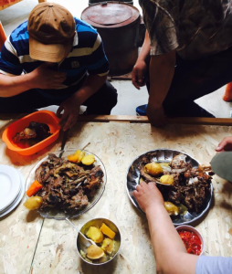 A typical Mongolian stew of mutton, carrots, and potatoes | COURTESY STELLA CAI