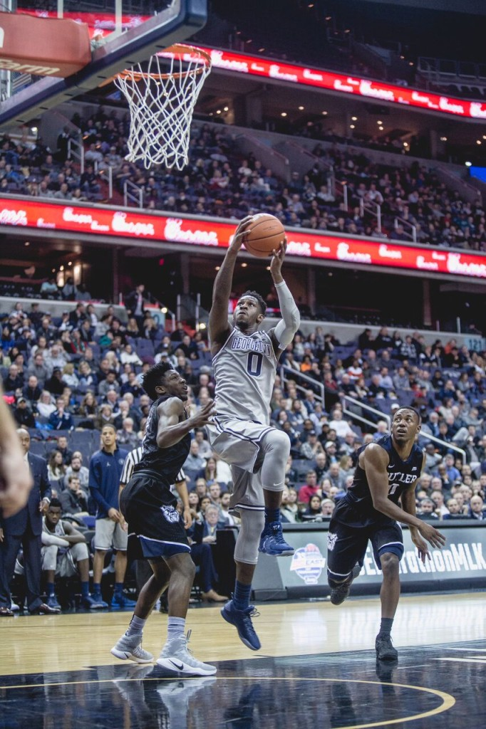 Junior guard LJ Peak finished the 2016-17 season ranking second on the team with 16.2 points per game and led the team with 3.5 assists per game.(FILE PHOTO: DAN KREYTAK/THE HOYA)