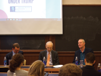 SPENCER COOK/THE HOYA President Donald Trump's trade policies remain uncertain, but may be heavily protectionist, according to panelists at an event Wednesday.