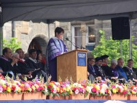 ISABEL BIMAIRA/THE HOYA Project HOME co-founder Sister Mary Scullion called for renewed compassion and empathy to solve the problems of inequality and cruelty in her commencement address to the Georgetown College Class of 2017.