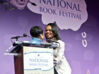 CARLA HAYDEN Condoleezza Rice, former Secretary of State and National Security Adviser, addressed democracy promotion in developing countries while signing her most recent book Saturday.
