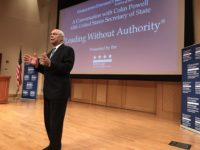 "MCDONOUGH SCHOOL OF BUSINESS Colin Powell, former secretary of state under President George W. Bush, said the United States will ""come through"" its struggle to fully accept immigrants in a speech Wednesday."
