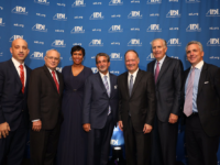 ADL WASHINGTON DC/TWITTER University President John J. DeGioia received the Anti-Defamation League's 2017 Achievement award on Monday.