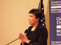FILE PHOTO: SPENCER COOK/THE HOYA Mayor Muriel Bowser announced her intention to run for re-election in 2018.