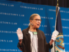 COURTESY INES HILDE Supreme Court Justice Ruth Bader Ginsburg praised growing equality for women in the legal field in an address at the Law Center.