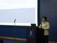 ELLA WAN/THE HOYA Associate Director for Undocumented Student Services Arelis Palacios called for Georgetown students to support their peers who lack documentation through off-campus activism.
