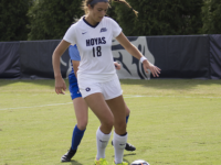 CARORLINE PAPPAS FOR THE HOYA Junior forward Caitlin Farrell notched an assist in Georgetown's win over Villanova.