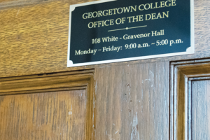 FILE PHOTO: CLARA MEJÍA ORTA/THE HOYA Georgetown College will consider giving department status to the women's and gender studies program.