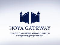 HOYA GATEWAY More students are connecting with alumni after the relaunch of Hoya Gateway, a career networking platform.