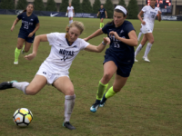 AISHA MALHAS FOR THE HOYA Sophomore forward Paula Germino-Watnick was one of four Hoyas to put a shot on goal, but the team failed to ever break its scoreless tie with the Demon Deacons.