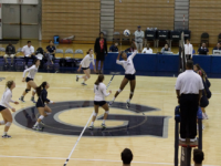 ANNE STONECIPHER FOR THE HOYA Junior middle blocker Symone Speech is currently first for the Hoyas and fifth in the Big East with 340 kills this season.