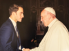 COURTESY DAVID PALMIERI David Palmieri (SFS '18) was one of seven students and four members of faculty to meet Pope Francis at a conference on nuclear disarmament.