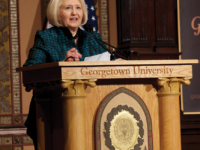 FILE PHOTO: LAUREN SEIBEL/THE HOYA Former Ambassador Melanne Verveer, the executive director of the Georgetown Institute for Women, Peace and Security, promoted a new index measuring women's well-being worldwide.