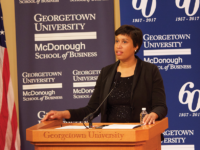 "FILE PHOTO: SPENCER COOK/THE HOYA  Washington, D.C. Mayor Muriel Bowser (D) uneiled a ""Home for The Holidays"" campaign Nov. 20 to provide permanent housing to 400 currently homeless residents of the District."