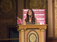 RYAN BAE/THE HOYA Lila Rose, the founder of Live Action, an American anti-abortion nonprofit organization drew from her experiences as a young activist in her address in Gaston Hall on Saturday.