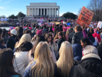 "AMBER GILLETTE/THE HOYA Organized under the theme ""Power to the Polls,"" the 2018 Women's March aimed to inspire women to run for elected office and vote."