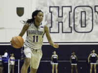 Will Cromarty/The Hoya Junior Guard Dionna White is averaging a team high 17.5 points per game to go along with 6.3 rebounds per game, good for third on the team.