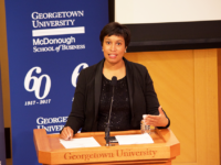 FILE PHOTO: SPENCER COOK/THE HOYA Mayor Muriel Bowser (D-D.C.) joined other mayors and business leaders in launching a coalition to promote affordable housing.