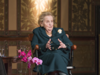 KEENAN SAMWAY FOR THE HOYA Former Secretary of State Madeleine Albright received an award for excellence in diplomacy in Gaston Hall on Monday afternoon.