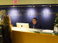 RYAN BAE/THE HOYA In a push to establish one-credit foreign language courses, members of the School of Foreign Service Academic Council have begun to survey students from across all four schools via Google Forms to gauge their interest.