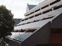 FILR PHOTO ANNA KOVACEVICH/THE HOYA Georgetown began its most recent series of improvements with an April 2017 announcement of an on-site solar panel initiative.