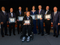 GUHOYAS Georgetown's Athletic Hall of Fame Inducted seven new members on Feb. 9. From left to right: Stephen Iorio, Daniel Martin, Ebiho Ahokhai, Melissa Tytko, Paul Tagliabue, Matthew Rienzo and Janne Kouri, front.