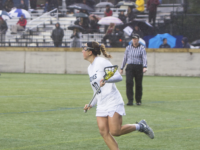 ALLAN GICHOHI FOR THE HOYA Junior attacker Taylor Gebhardt scored four goals in Sunday's loss to Towson. She currently leads the team with eight goals on the season