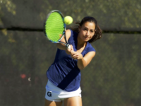 GUHOYAS Senior Daphne De Chatellus was a bright spot for the Hoyas in their matches against Drexel and the University of Pennsylvania, winning both of her matches.