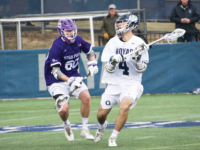 AMANDA VAN ORDEN FOR THE HOYA Junior attackman Daniel Bucaro scored twice in Tuesday's season opener for the Hoyas, in which Georgetown defeated High Point 15-5.