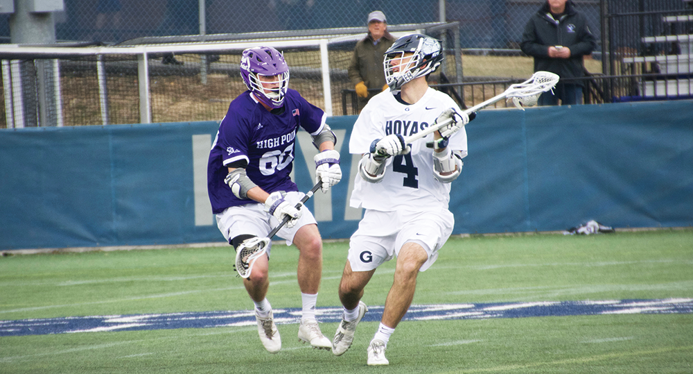 High Point Lacrosse >> Men S Lacrosse Gu Dominates High Point In Season Opener