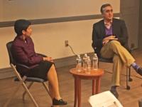 ARSALAN IFTIKHAR TWITTER  Pennsylvania State University law professor Shoba Sivaprasad Wadhia (LAW '99) and Arsalan Iftikhar discussed Trump's Muslim ban.