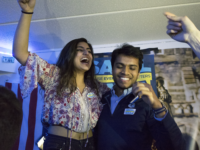 FILE PHOTO: SHEEL PATEL FOR THE HOYA Naba Rahman (SFS '19), left, has offered her resignation as GUSA Vice President in protest of GUSA President Sahil Nair (SFS '19).