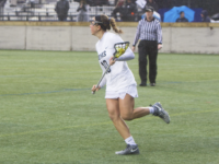 ALLAN GICHOHI FOR THE HOYA Junior attack Taylor Gebhardt is second on the team with 16 goals this season. Along with junior midfielder Fracesca Whitehurst and sophomore midfielder Natalia Lynch, Gebhardt led the Hoyas with three goals against Johns Hopkins.