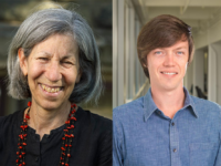 """CORNELL UNIVERSITY ,"""" Mary Fainsod Katzenstein, founding member of the Cornell Prison Education Program, and Nolan Bennett, an assistant government professor at Georgetown discussed their research on prison systems."""
