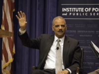 WILL CROMARY/THE HOYA Former Attorney General Eric Holder, a Democrat, described his battle against partisan gerrymandering in an event hosted by the Institute of Politics and Public Service on Monday.