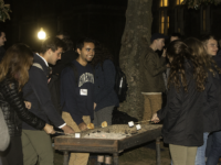 HANNAH LEVINE FOR THE HOYA Students gathered on Healy Lawn for s'mores of the inaugural event of Georgetown's Midwest Club.