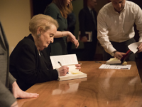 "ALI ENRIGHT/THE HOYA Former Secretary of State Madeleine Albright signed copies of her new book, ""Fascism: A Warning,"" at an event Wednesday."