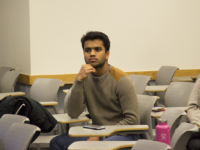 FILE PHOTO: RYAN BAE FOR THE HOYA Georgetown University Student Association President Sahil Nair, above, and Vice President Naba Rahman opened applications for positions in their cabinet to the entire student body.