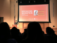 SUBUL MALIK/THE HOYA   Megan Twohey spoke about her work with The New York Times' Jodi Kantor reporting the dozens of sexual assault allegations against producer Harvey Weinstein, co-founder of Miramax and the Weinstein Company.