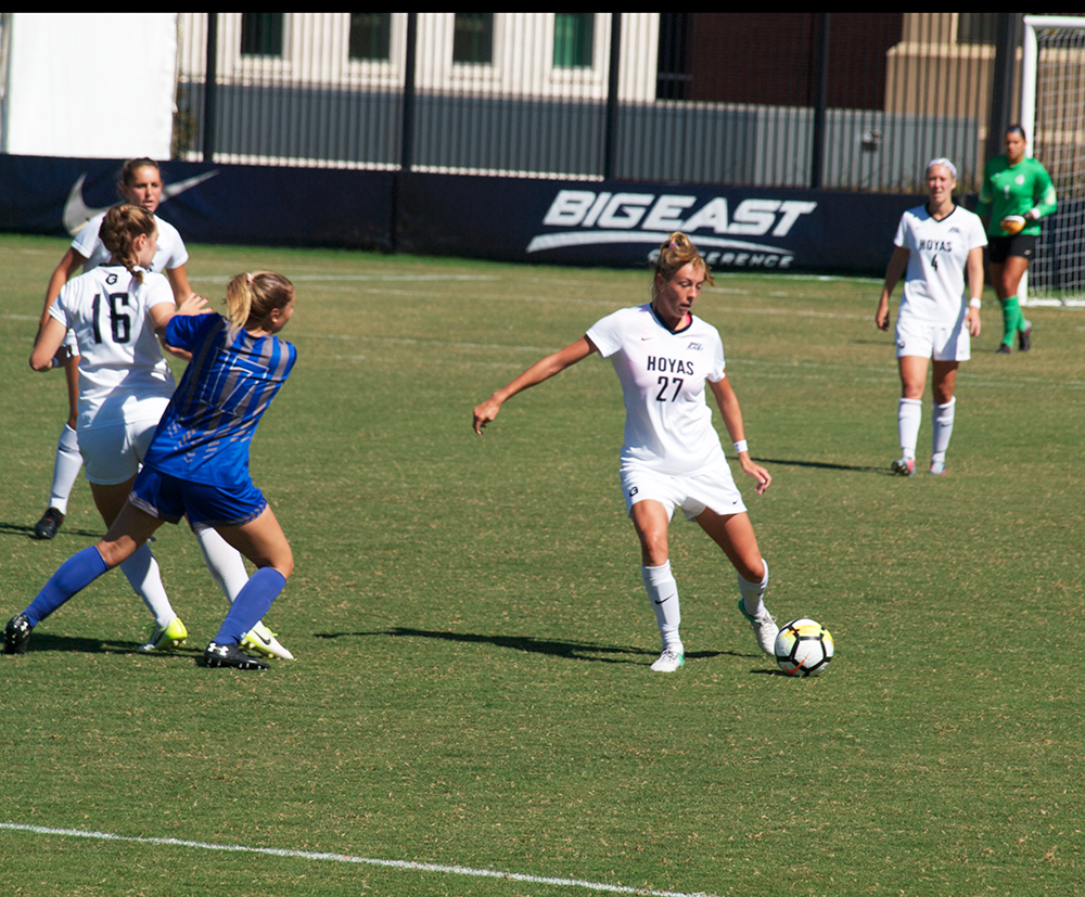 Women's Soccer | GU Shuts Out Rival WVU